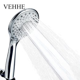 Wholesale Plastic Spray Cleaner - VEHHE Adjustable Spray Nozzle Silica Gel Holes Water Saving Shower Head Electroplate Squeeze Clean Bathroom Accessories VE202