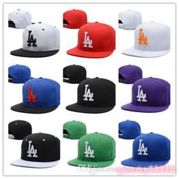 Nuovo design della moda 2018 Vendita calda uomini di alta qualità Donne  Basketback Snapback Baseball Dodgers cappelli da calcio Mens Sport piatto  Hip Hop ... 88c4455f797b