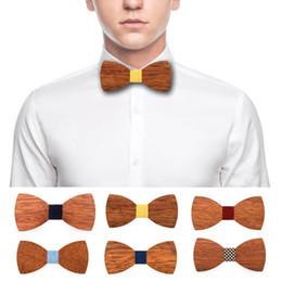 Farfallino Real Wood per decorazione Semilavorato Farfallino artigianale Cravatte vintage in legno con nastro elastico supplier wooden bow ties da legami di prua di legno fornitori