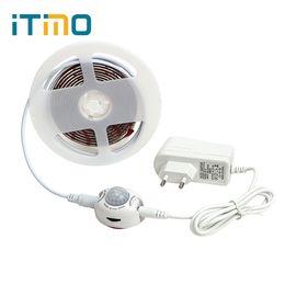 Ламповый шкаф онлайн-ITimo Motion Sensor Bed Tape Night Lights with Automatic Shut Off Timer Flexible LED Strip light Wardrobe Cabinet Lamp 2M 60LEDs