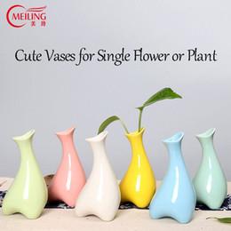 Wholesale wholesale white ceramic vase - MEILING Creative Shaped White Blue Red Green Yellow Vases Home Decoration Handmade Ceramic Vase for Flowers Modern Vase Tabletop
