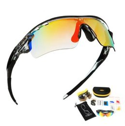 8a8f7cf1e2b CoolChange Polarized Cycling Glasses Bike Outdoor Sports Bicycle Sunglasses  Goggles 5 Groups of Lenses Eyewear Myopia Frame