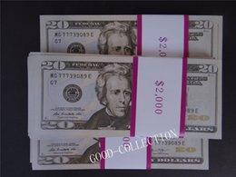 Wholesale Money Plays - USA $20 Bills Play Money, Film and TV paper bill props 100 Pcs