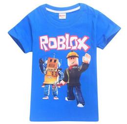 2018 летние дети мальчики футболки девушки топы тройники чистый хлопок мультфильм футболка Детская одежда ROBLOX красный нос день с коротким рукавом футболки от