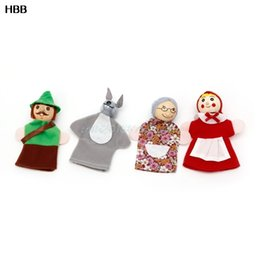 Wholesale Fairy Stories - Little Red Riding Hood And Wolf Fairy Story Play Game Finger Puppets Toys Set #T026#