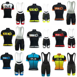 Wholesale Shorts Bibs - 2018 ropa ciclismo hombre ALE Cycling Jerseys Short Sleeves Summer Style For Men Ropa Ciclismo Cycling Tops bib shorts sets C0604