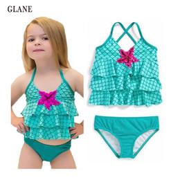 Wholesale L Child Bikini - 2-7years children swimwear girls swimwear baby kids biquini infantil sunny swimsuit bikini girl 2017 New summer bathing suit