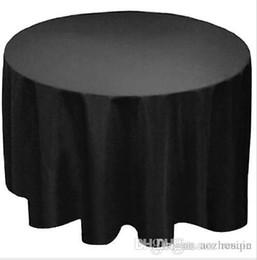 """Manteaux de table en Ligne-En gros 90 """"Ronde Polyester nappe Couverture de table Tissu Blanc noir jaune pour la livraison de mariage gratuit"""