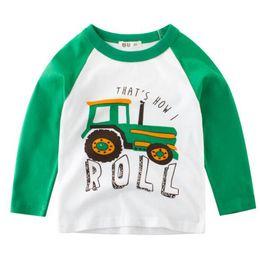 carros de manga comprida Desconto Atacado New Fashion Outono Baby Boy Camisa das Crianças de Manga Longa Impressão Do Carro T-Shirt O Pescoço Camisa Top Venda Quente das Crianças roupas