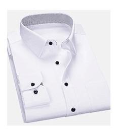 xxs vestidos brancos Desconto Novo Estilo de Algodão Branco Dos Homens de Casamento / Prom / Jantar Noivo Camisas Desgaste Noivo Homem Camisa (37--46)