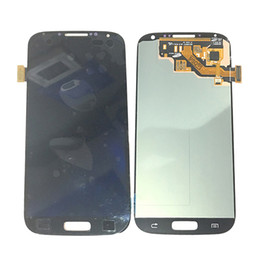 Wholesale galaxy s4 lcd black - Super AMOLED Original LCD Display Touch Screen Digitizer For Samsung Galaxy S4 i9500 i9505 Black White With Tempered Glass DHL logistics