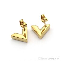 Canada Anti-Allergic Titanium Steel Fashion Stud pour les hommes des femmes Top Quality Lover cadeau boucle d'oreille marque bijoux pendiente de las mujeres Offre