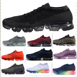 Wholesale Purple Vapors - 2017 New Rainbow VaporMax 2018 BE TRUE Men Woman Shock Running Shoes For Real Quality Fashion Men Casual Vapor Maxes Sports Sneakers