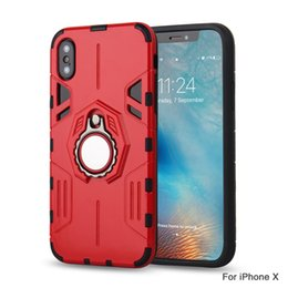 Wholesale Hard Grip - For iPhone X 8 7 Case with Ring Holder Kickstand Function 360 Degree Rotating Ring Holder Grip Case Ultra Slim Thin Hard Cover