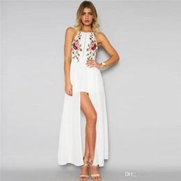 cotton summer dress xl Australia - 2017 summer dress printed vestidos sleeveless beach summer dress fashion sexy long maxi dresses comfortable cotton size S-XL
