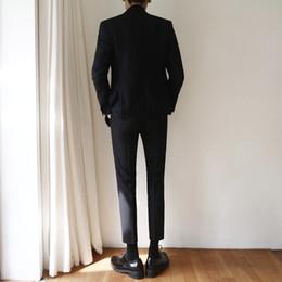 graue hochzeitsanzüge rote krawatte Rabatt Südkoreanische zweireihige Anzugjacke Mann koreanische Version dünne Anzugjacke Geschäft trägt ein neues Best Man Hochzeitskleid