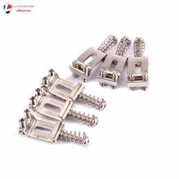 Части электрические онлайн-Профессиональный телекастер Bridge Tremolo Bridge Saddles Запчасти для электрогитары - 6 штук
