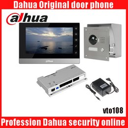 Wholesale ip video box - Mutil-language Dahua DH-VTH1510CH Color Monitor with VTO2000A outdoor IP camera Video Intercom system with VTO108 box