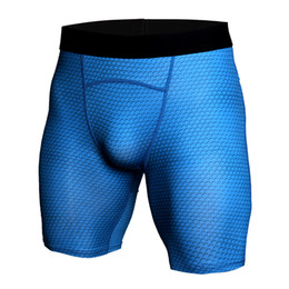 Wholesale faster fitness - High Quality 2018 New Men's Compression Fast Drying Shorts Running Tights Base Layer fitness workout backing summer sports