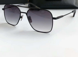 f4ac7c02424 Flight Pilot Sunglasses Matte Black Grey Shades men luxury brand designer  sunglasses Glasses New with box