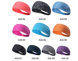 Wholesale Headbands Sports Solid Color - Fashion sports headband Fitness running Yoga Elastic hairband Solid color Hair Accessories Hair Headwear from jaguartee