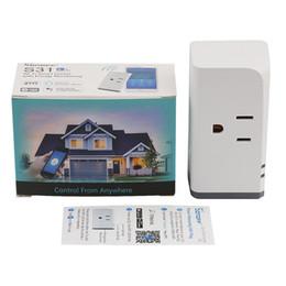 Enchufe de estados unidos online-SONOFF S31 US Plug 16A Wifi Mini Smart Remote Control Enchufe Función de temporización Enchufe de monitor de uso de energía eléctrica Funciona con Alexa DHL gratis