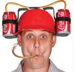 Capacete, bebendo, chapéu on-line-7 cores do capacete canudo Hat Cerveja Soda dupla canudo festa de Natal Chapéus Fontes bebidas Titular chapéus do partido