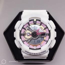 Wholesale Car Timing Light - AAA re engraved full function ga110 men sports watch, men watch LED digital watch, big boy military watch box, car lighting impact relogio