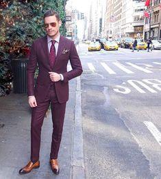 Ultimo Coat Pant Designs Borgogna Mens Abiti Slim Fit Due bottoni Smoking da sposa sposo Cheap Plus size Tailleur Suit (Jacket + Pants) da