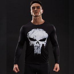 6adc61eef868b black friday Desconto Punisher 3d impresso camisetas homens camisas de  compressão de manga longa cosplay crossfit
