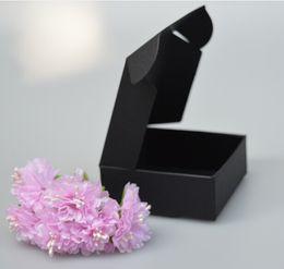 Wholesale Chemical Storage - New Multi Option Black Handmade Cake Candy Gift Packing Paper Boxes Square Box Storage Carton Box