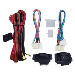 Universal del coche Frente de 2 puertas Ventana eléctrica 3pcs Interruptores del arnés de cable con iluminación Luz verde # 2843 desde fabricantes