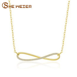 Wholesale infinity jewellery - SHE WEIER jewelry accessories infinity necklaces & pendants choker pendant necklace chain collares jewellery gifts for women