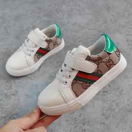 babys de moda Desconto Crianças Sapatos de Grife Padrão de Luxo Sapatos de Skate Moda Impressão Babys Primeiros Caminhantes Meninas Meninos Tênis Atacado 2 Estilos