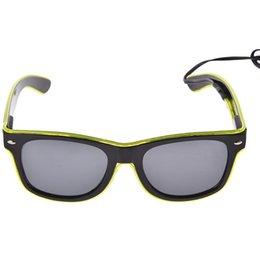 LEVOU Óculos de Festa de Moda EL Fio de óculos de Festa de Aniversário de  Halloween Bar Decorativa fornecedor Óculos Luminosos Eyewear 9aec6f1975