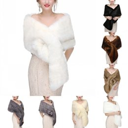 4db6321a76 In Stock Bridal Wraps Faux Fur Wedding Jackets Fashion Women Cover up Capes  For Winter Christmas Shrug Shawl Bolere CPA1604