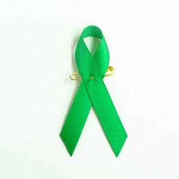 Alfileres de cinta verde online-500 unids envío libre de DHL Riñón Cáncer Conciencia Verde Cinta Pin Conciencia Verde Cinta Broche Pin