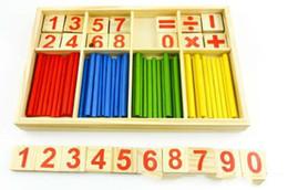 2019 abacus de juguete Montessori Número De Madera Matemáticas Juego Sticks Box Matemáticas Juguete Educativo Puzzle Juego de Enseñanza Materiales Matemáticas Ábaco Juguetes Junta de Aprendizaje rebajas abacus de juguete