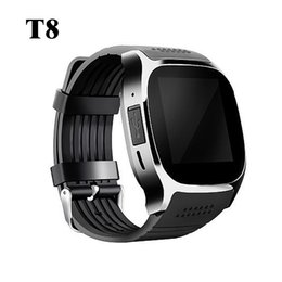 sms camera control Promo Codes - T8 Bluetooth Smart Watch With Camera Music Player Facebook Whatsapp Sync SMS Smartwatch Support SIM TF Card For Android