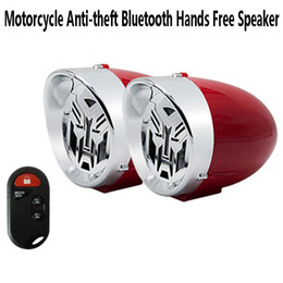 Wholesale cars amplifier - 3 inch Waterproof Motorcycle Stereo Speaker Bluetooth Hands free Anti-theft Alarm Amplifier Hi-Fi Sound MP3 Car FM Radio