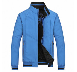 Wholesale double collar zipper - Free Shipping New 2017 Spring And Autumn Period And The Double Jacket For Fashion Leisure Coat Jackets Menswear