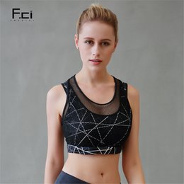 9e41f59f0d FRECICI 2018 Women Black Sports Bra High Impact Sport Underwear Breathable  Workout Fitness Female Racerback Yoga Bra Push Up
