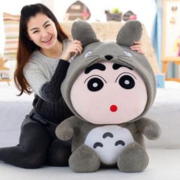 2019 большая белая медвежья игрушка CXZYKING 30cmTotoro Doll Plush Toys Crayon Shin Chan Plush Toy Doll Hat Can Take Off Best Gift Children Soft Animation