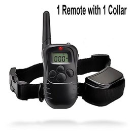 Wholesale Pet Dog Trainers - Waterproof 1000 Yard Dog Vibra Shock Training Collar Pet Trainer With Remote 4 Modes 300m