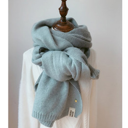3fd8a99b4124 2018 femmes solides écharpes en cachemire dame hiver épaissir chaud doux  pashmina châles wraps rose noir femelle tricoté en laine longue écharpe
