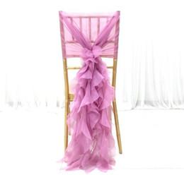 Elegance Chiffon Stuhl Schärpe Tüll Chiavari Stuhl Sash Stuhlabdeckung für Tür Hochzeit Bankett Dekoration von Fabrikanten