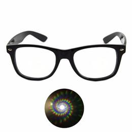 Canada 2pcs spirale ultime lunettes de diffraction en plastique - noir, bleu, rose, prisme rave verres à râper lunettes de soleil supplier rave plastic Offre