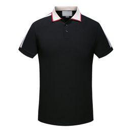 Wholesale Cartoon Shirts - Top Quality Polo Shirts Fashion Striped Casual Short Sleeve T Shirt Men Brand Summer Polos Cotton Tee Shirt