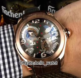 Wholesale Mens Watch Brands List - Luxury Brand Geneva New Listing Bubble Series Spherical Glass CO0082 Automatic Mens Watch Moon Phase Rose Gold Leather Strap Wristwatches