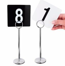 """8 """"12"""" pince à cartes de numéro de table en acier inoxydable argentée avec support d'étiquette porte-numéro de table porte-carte porte-carte porte-carte ? partir de fabricateur"""